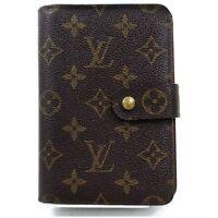Authentic Louis Vuitton Wallet Porto Papier M61207 Browns Monogram 817386