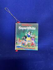 Vintage Disney Snow White Mini Book Christmas Tree Ornament