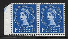 SB28 1d Wilding booklet pane perf type E(½v) with arrow UNMOUNTED MNT
