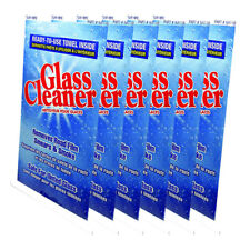 Blue Magic Glass Cleaner Towel, Removes Road Film Smears & Smoke - 6 Packs