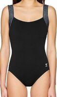 TYR Women's Swimwear One Piece Swimsuit Square Neck Black Size 8