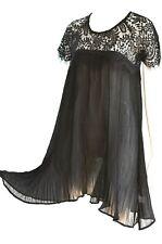 Sommerkleid Plisseekleid Audrey kleines Schwarzes 36 38 Neu Schwarz