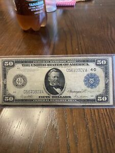 1914 $50 Fifty Dollar Federal Reserve Note San Francisco