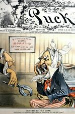 Mormonism Toothache 1883 UNCLE SAM at DENTIST PULLING MORMON TOOTH Puck Keppler