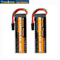 2pcs 14.8V 4S 6500mAh 60C LiPO Battery Traxxas for RC Airplane Helicopter Truck