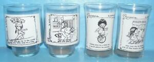 Lot of 4 Charmers By Hallmark Glasses