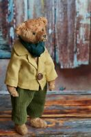 Handmade Artist toy Teddy bear Dandy in a jacket and trousers, excellent present