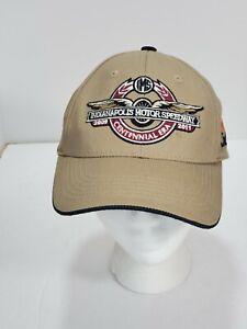 IMS 2009-2011 CENTENNIAL Era Safety Hat Cap Tan Indianapolis Motor Speedway