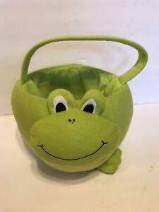 Decorative Plush Frog Easter Basket