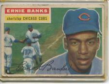 1956 TOPPS ERNIE BANKS CARD #15 CHIGAGO CUBS HOF