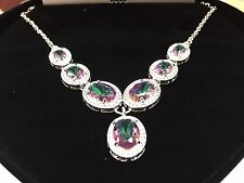 COLOR CHANGE LCS ALEXANDITE & LCS DIAMOND NECKLACE  SZ 17 SZ 18 SZ 20 ADJUSTABLE