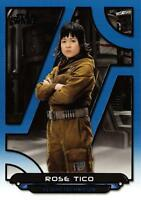 Star Wars Galactic Files (2018) BLUE PARALLEL BASE Card TLJ-5 / ROSE TICO
