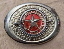 VINTAGE TEXAS LONE STAR STATE WESTERN BELT BUCKLE ~ Gold Tone