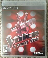 NEW The Voice: I Want You Nintendo PS3 Singing Game *Sealed*