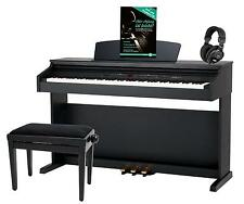 88 KEYS DIGITAL ELECTRIC PIANO KEYBOARD 16 SOUNDS USB BENCH HEADPHONES SET BLACK