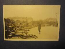 Old c.1918 WWI - Hun Cannon - ARCH of TRIUMPH - PARIS France RPPC PHOTO Postcard