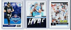 2017 MITCH TRUBISKY ROOKIE LOT (3) SCORE BASE DRAFT HYPE BEARS PD