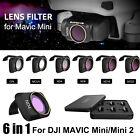 6PCS Drone Camera Lens Filter Kit MCUV CPL ND4/8/16/32 for DJI Mavic Mini/Mini 2
