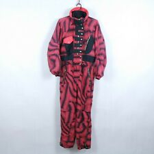 BELFE Vintage Womens Red Festival One Piece Ski Suit Snowsuit Snowboarding Small