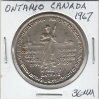 (O)  Token - Ontario, Canada - 1967 - 36 MM