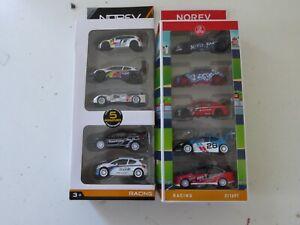 Lot de 10 Voitures Miniatures Racing Rallye Peugeot Norev 1/64 Jouets Jeux Z5