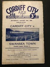 Cardiff City v Swansea Town, (Div 2), 27.8.1949.