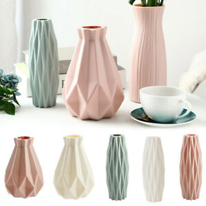 Flower Vase Nordic Home Plastic Vase Imitation Ceramic Flower Pot Decoration