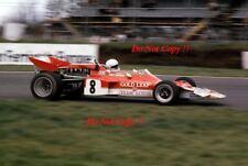 TONY TRIMMER ORO Leaf Team Lotus 72 C F1 CORSA DEI CAMPIONI 1971 fotografia 1
