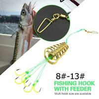 5Pcs//set Fishing Crank Hook and Metal Sequins Lead Spring Pin Weight Hook V4N4