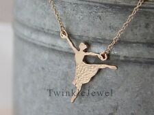 Fashion Jewelry Ballerina Ballet Charming Dancer Gold Plated Pendant necklace