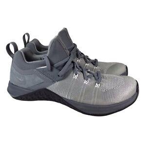 Nike Metcon Flyknit 3 Training Shoes Cool Gray Black AQ8022-002 Mens Size 7