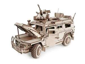 Wood Trick 493pcs Car Army Model Mechanical Wooden 3D Puzzle Self Assembly diy