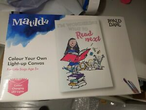 Colour Your Own Matilda Light-up Canvas Roald Dahl For Little Slugs 5+