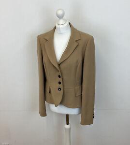 Hobbs Blazer Jacket Beige Tan Colour Sz 16 UK Ladies