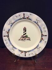 Totally Today Coastal Lighthouse Salad/Dessert Plate Nautical Theme