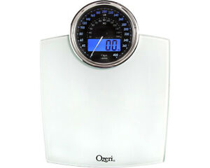 Ozeri Rev Digital Bath Scale with Electro-Mechanical Dial