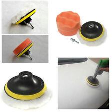 New 3 inch Polishing Buffer Sponge Pad Set + Drill Adapter For Car Polisher I6