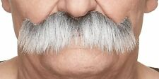 High quality Rocking grandpa's gray with white fake, self adhesive mustache