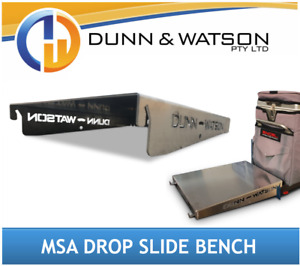 Aluminium Bench to suit MSA Drop Down Fridge Slides (4x4, 4wd, Canopy, Ute)