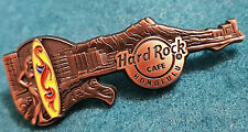 HONOLULU HAWAII SKYLINE SERIES SURFBOARD GIRL GUITAR COPPER Hard Rock Cafe PIN
