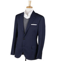 NWT $3295 BRUNELLO CUCINELLI Dark Blue Check Linen-Wool-Silk Sport Coat 40 R
