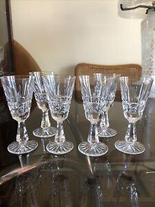 Set Of 6 Waterford Crystal Old Cut Vintage Irish Kylemore Sherry Or Port Glasses