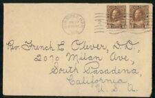 Canada 1918 Winnipeg to South Pasadena California Cover Wwh85979