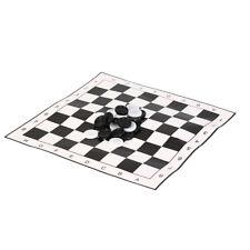 Dames internationales portable pliant en plastique jeu d'échecs + 24pcs échecs