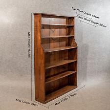 Antico Oak 5' Cascata Apri Libreria Scaffali Display Qualità Vittoriano c1870