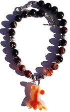 STYLISH HIGH QUALITY POLISHED CARVED AGATE FISH NECKLACE