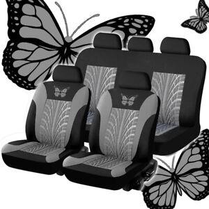 Housse de siège auto grise Protecteurs Ensemble complet lavable universel pou DE