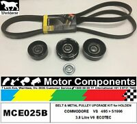 METAL PULLEY UPGRADE KIT for HOLDEN COMMODORE VS 3.8L V6 ECOTEC 4/1995 > 5/1996