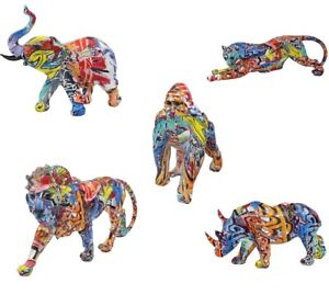 Graffiti Art WILD ANIMALS Ornament Elephant Rhino Cheetah Gorilla Leonardo