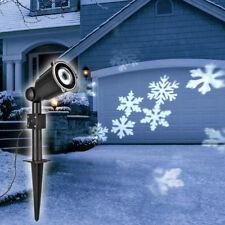 LED Projektor Schneeflocke Strahler Spot Weihnachtsbeleuchtung LED, Innen Außen